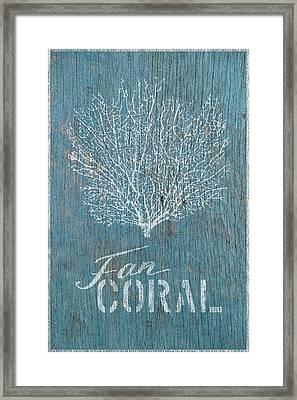 Fan Coral Framed Print
