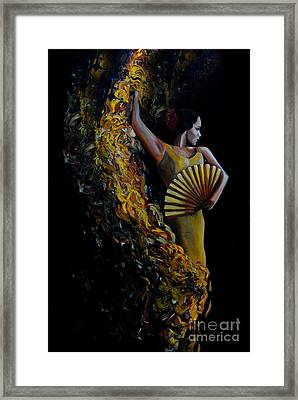 Fan Dance Framed Print by Nancy Bradley