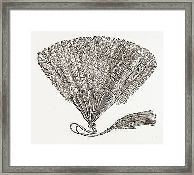 Fan For Evening Wear, Needlework Framed Print by Litz Collection