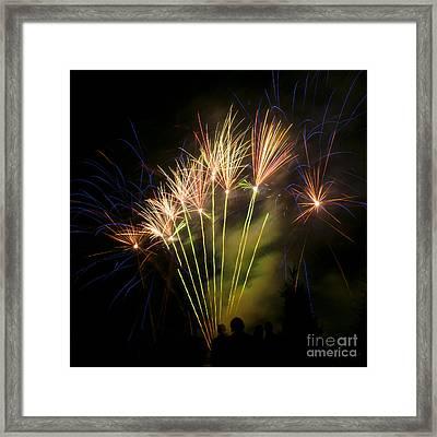Fan Of Fireworks Framed Print