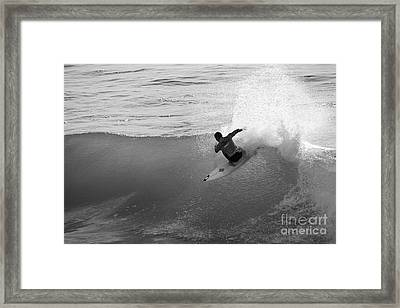 Framed Print featuring the photograph Fan Spray by Paul Topp