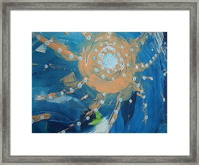 Fanciful Abstract Framed Print by Dotti Hannum
