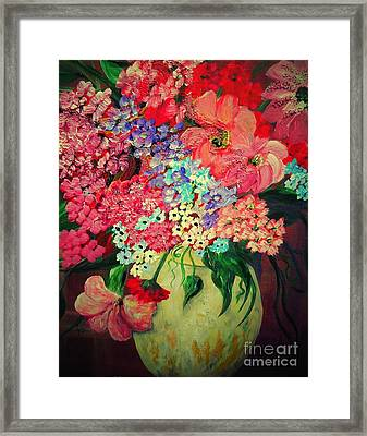 Fanciful Flowers Framed Print