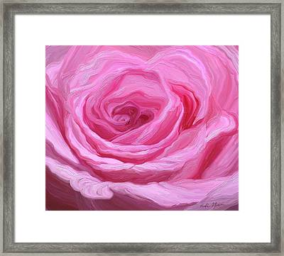 Fanciful Pink Framed Print by Kristie Mercer