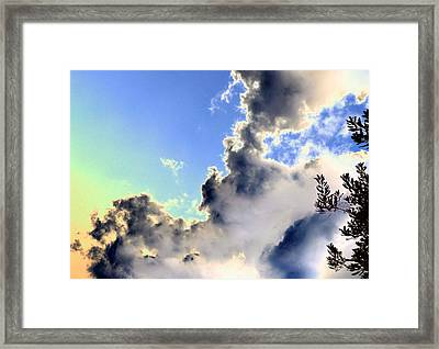 Framed Print featuring the photograph Fanciful Sky by Jim Whalen