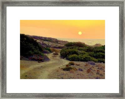Fancy A Roadtrip To Wherever The Sun Goes Down  Framed Print by Hilde Widerberg