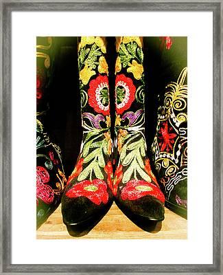 Fancy Boots Framed Print