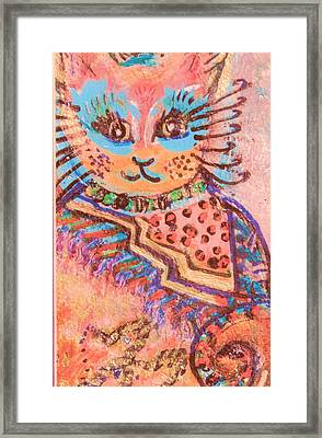 Fancy Cat Framed Print by Anne-Elizabeth Whiteway