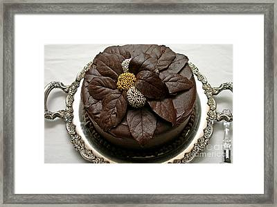 Fancy Chocolate Cake Framed Print