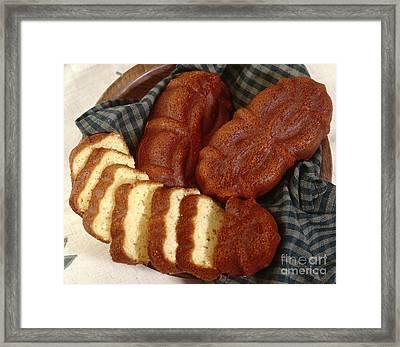Fancy Con Bread Framed Print