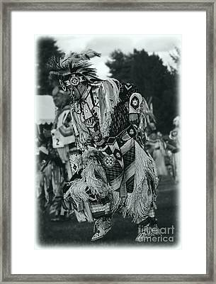 Fancy Dancer In Silver Screen Framed Print by Scarlett Images Photography