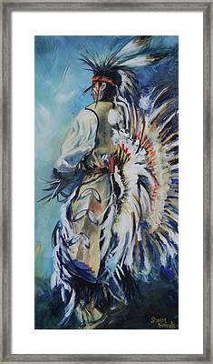 Fancy Dancer Framed Print