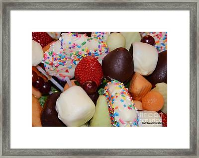 Chocolate Covered Fruit Framed Print