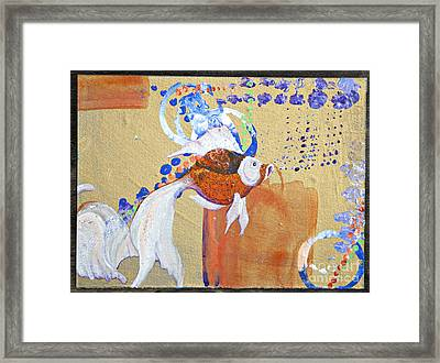 Fancy Goldfish Abstract Framed Print by Tracy L Teeter