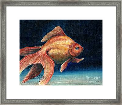 Fancy Goldfish Framed Print by Linda L Martin