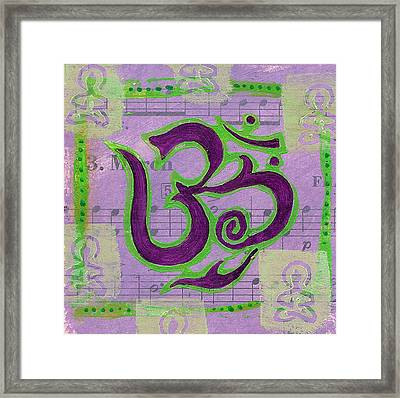 Fancy Om Whisper Buddhas Framed Print by Jennifer Mazzucco