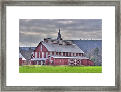 Fancy Red Barn Framed Print