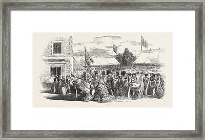 Fancy Sale And Opening Of The Asylum For Aged Governesses Framed Print
