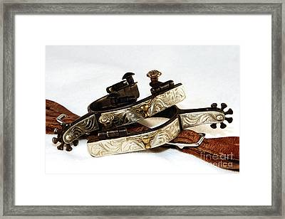 Framed Print featuring the photograph Fancy Silver Spurs by Lincoln Rogers