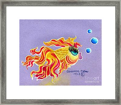 Fancytail Goldfish Framed Print by Genevieve Esson