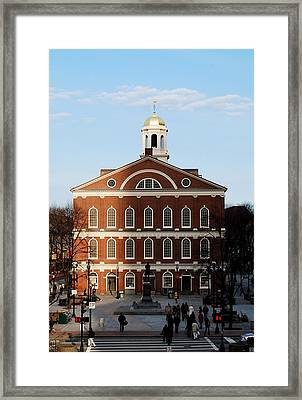 Framed Print featuring the photograph Faneuil Hall At Sunset by Caroline Stella