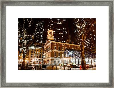 Faneuil Hall Boston Ma  Framed Print