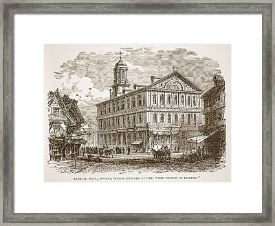 Faneuil Hall, Boston, Which Webster Framed Print by American School
