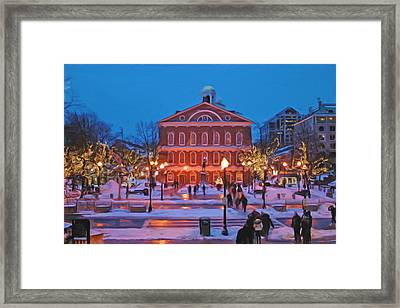 Faneuil Hall Holiday- Boston Framed Print by Joann Vitali