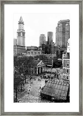 Faneuil Hall Marketplace Framed Print by John Rizzuto