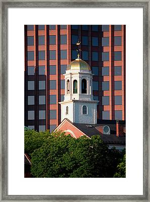 Faneuil Hall Weather Vane Tower, Built Framed Print