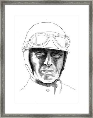 Fangio Framed Print by Diane Fine