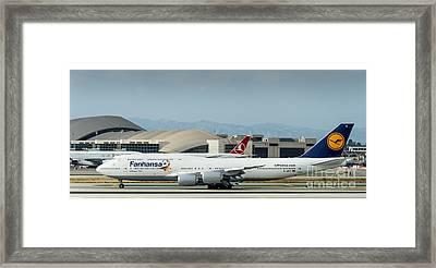 Fanhansa Boeing 747 Airliner Framed Print