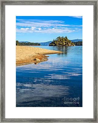 Fannette Island On Lake Tahoe. Framed Print by Jamie Pham