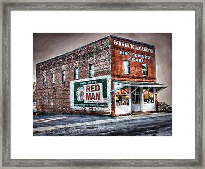 Fannin Tobacco And Candy Company Framed Print by Kenny Francis