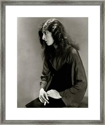 Fanny Brice Smoking Framed Print