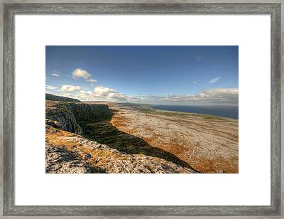 Fanore Village View Framed Print by John Quinn