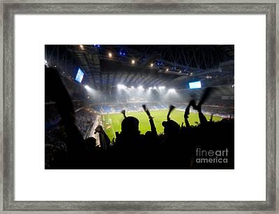 Fans Celebrating Goal Framed Print by Michal Bednarek