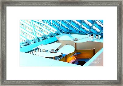 Fans From The Floor Framed Print