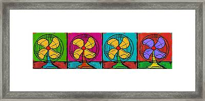Fans In A Row Framed Print by Dale Moses