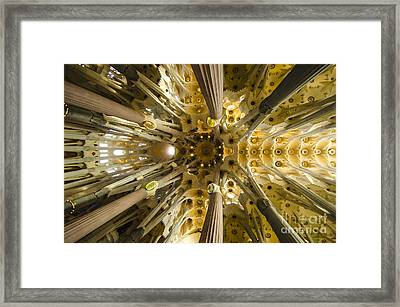 Fantabulous Sagrada Ceiling Framed Print