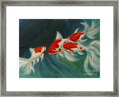 Fantail Koi Framed Print by Nancy Bradley