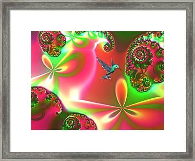 Fantasia Landscape Framed Print by Sharon Lisa Clarke