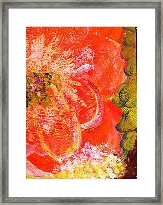 Fantasia With Orange  Framed Print by Anne-Elizabeth Whiteway