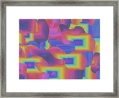 Framed Print featuring the digital art Fantastic Less Intense by Gayle Price Thomas