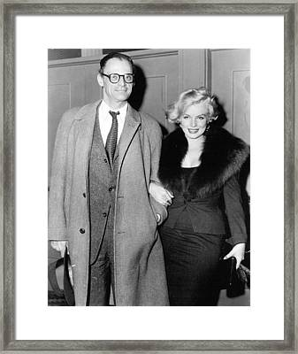 Marilyn Monroe And Arthur Miller Framed Print