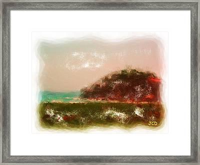 Fantastic Scenery Framed Print by Jean-Claude Delhaise