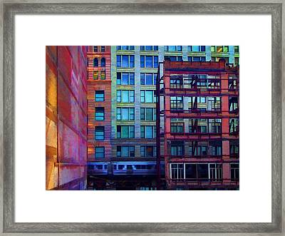 Framed Print featuring the pyrography Fantastical Chicago Loop by John Hansen