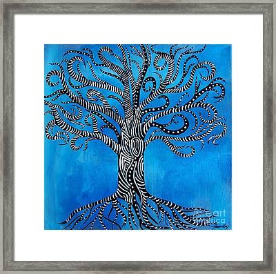 Fantastical Tree Of Life Framed Print