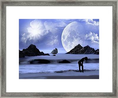 Fantasy Beach Framed Print