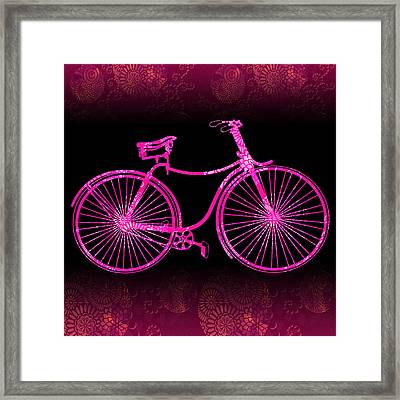 Fantasy Bycicle - Extreme Pink Framed Print by Andrea Ribeiro